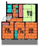 ポプラヶ丘コープ18-405 3DK間取図.JPG